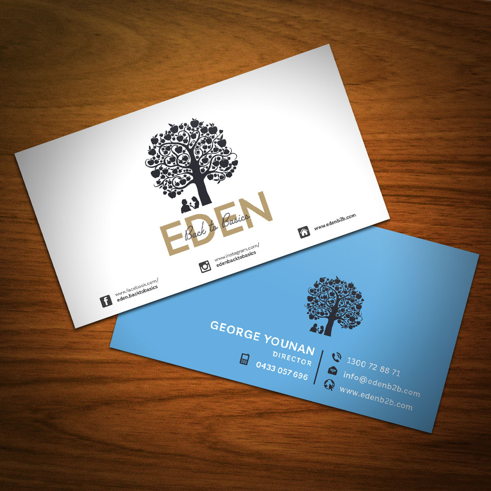 Re-design Your Business Card by Using Both Sides